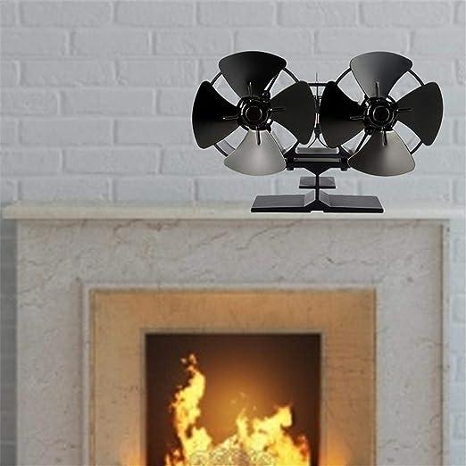 Motto.h - Termómetro de Ventilador y Chimenea para Estufa de leña, Quemador de Madera ecológica y eficaz, Ventilateur de cheminée: Amazon.es: Hogar
