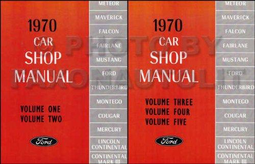 1970 MERCURY REPAIR SHOP & SERVICE MANUAL- Comet, Cougar, Boss 429, Cougar Cobra Jet, Cougar XR-7, Colony Park, Cyclone, Cyclone GT, Cyclone Spoiler. 70