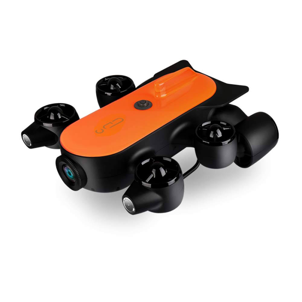 150M Tether Titan Professional Underwater Drone ROV AUV Robot with 4K UHD Action Camera Remote Control Real-time Steaming Undersea Detection for Viewing, Recording, Fishing, Salvage Work (150M Titan) by GENEINNO (Image #1)
