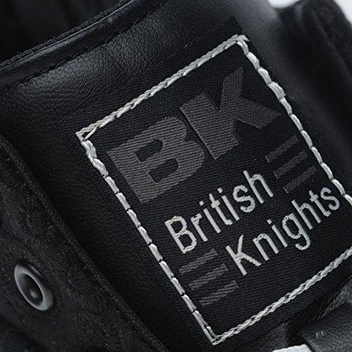 Décontractées Lacets Baskets Femmes Roco noir Multicolore Pu Blanc Montantes Knights British Chaussures Tn8q17Cnxw