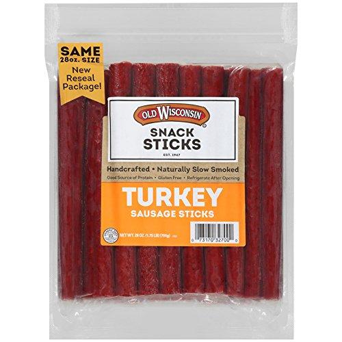 Old Wisconsin Snack Sticks, Turkey, 28-Ounce