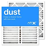 AIRx Filters Dust 20x20x5 Air Filter MERV 8 Replacement for Honeywell FC100A1011 FC200E1011 CF200A1024 FC35A1019 to Fit Media Air Cleaner Cabinet F100B2024 F100F1020 F100F2036 F150E1018, 2-Pack