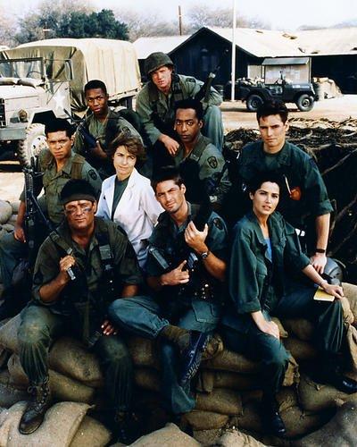 Tour of Duty main cast pose on sandbags 16x20 Poster