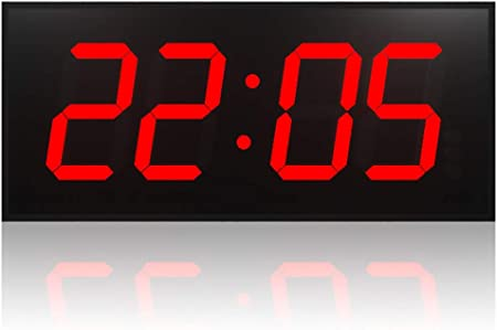 Reloj Digital Doble Cara Pared Reloj Grande De La Pared Del LED Con Múltiples Alarmas Calendario Temperatura Luz De Noche Cuenta Regresiva Controlador Remoto Mesa Para Salón Dormitorio Cocina,Rojo: Amazon.es: Hogar
