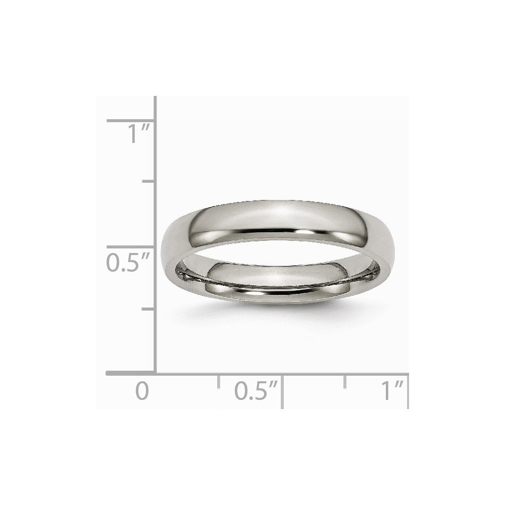 Titanium 4mm Polished Band