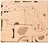 Petit Collage Wood Puzzle Plus Play, Safari Jumble