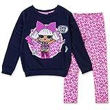 L.O.L. Surprise! Girls Clothing Set Toy Girls Hoodie & Legging Set (Navy/Pink, 6X)