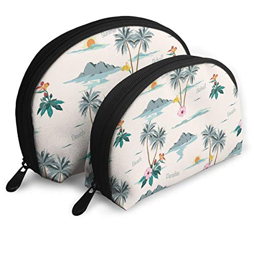 Travel Cosmetic Storage Hawaiian Aloha Pattern Printing Assorted Portable Bags Clutch Pouch For Women Girls