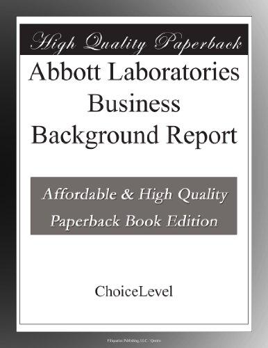 abbott-laboratories-business-background-report
