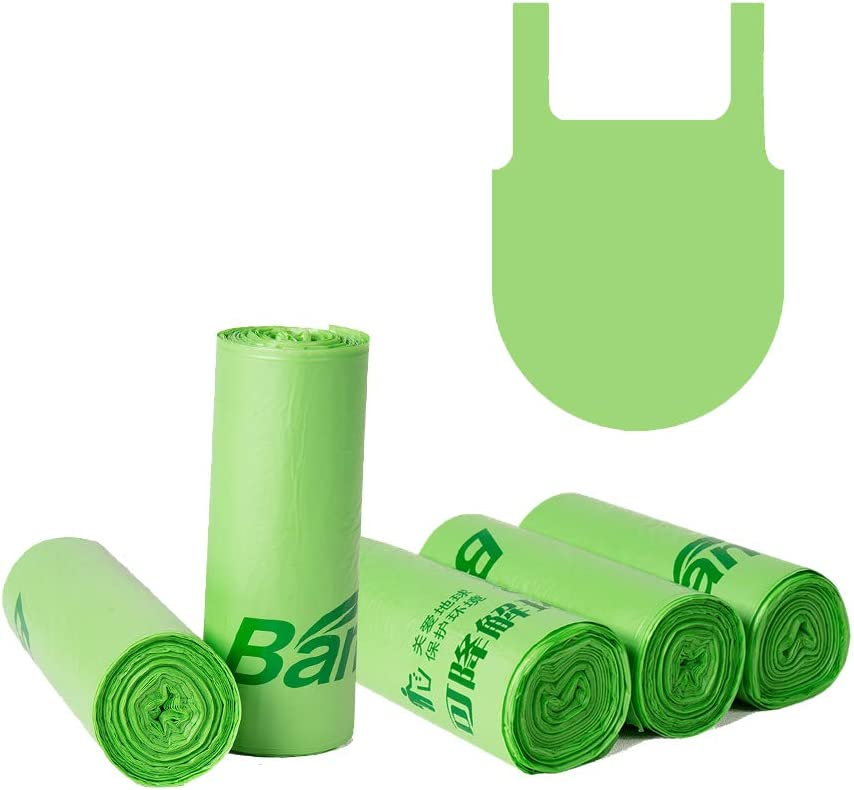 Xersex 60 Bolsas de Basura Biodegradables y Compostables para Cocina 13L