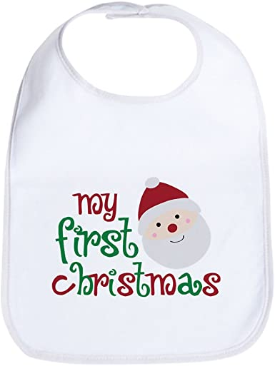 BABY/'S FIRST CHRISTMAS BIB /& SANTA HAT BLUE FOR BABY BOY NEW