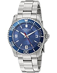 Victorinox 241709 Womens Maverick Swiss Stainless Steel Automatic Watch, Blue/Stainless, 34mm