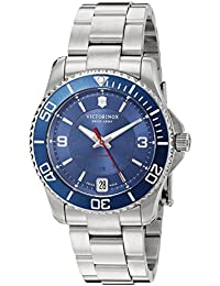 241709 Womens Maverick Swiss Stainless Steel Automatic Watch, Blue/Stainless, 34mm