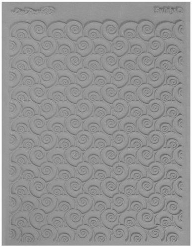 Lisa Pavelka Texture Stamp Swirly Q (Style - Polymer Rubber Stamps For Clay