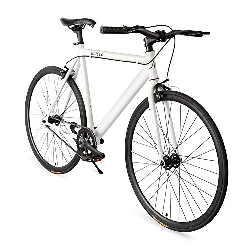 - Superday Fixed Gear Single Speed Bikes 700C Urban Fixie Road Bike with Front & Rear Brakes, White
