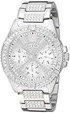GUESS Stainless Steel Crystal Multifunction Watch