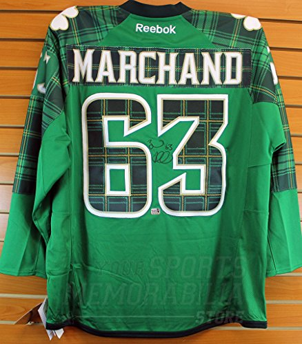 size 40 76918 d66a5 Brad Marchand Boston Bruins Signed Autographed 2017 St. Patrick's Day Jersey