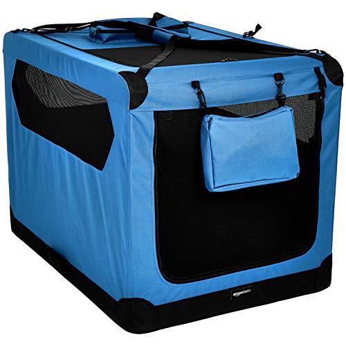 🥇 AmazonBasics – Transportín para mascotas abatible