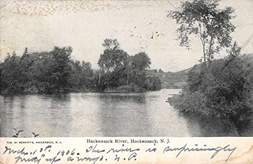 Hackensack New Jersey River Waterfront Scenic View Antique Postcard K64875