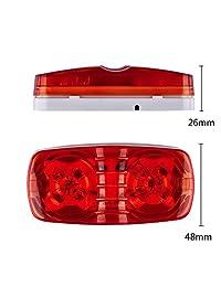 Catinbow   Marcador de luz LED con 10 diodos superbrillantes, indicador de luz lateral para camión