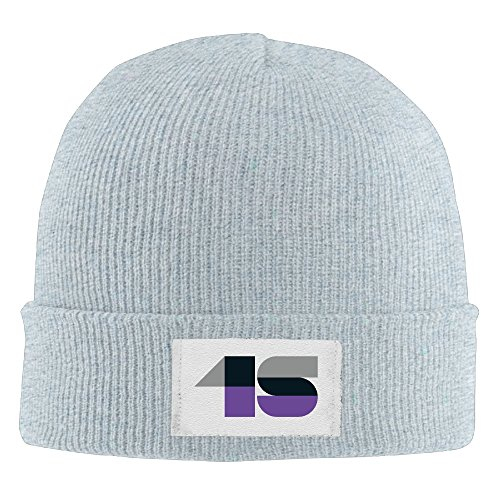 - Unisex 15th Birthday Gifts Custom Number 15 Fashion Beanie Hat Ash