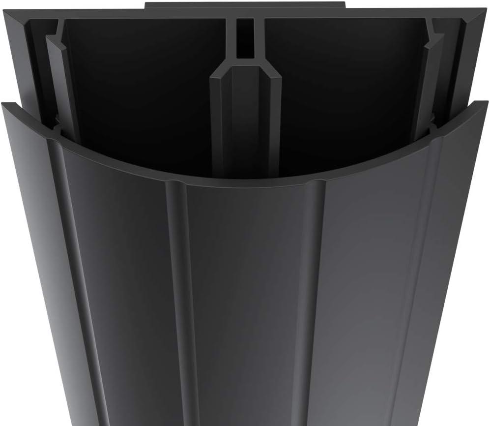 Habengut - Cubierta de Cable de TV de PVC Negro para Ocultar los ...