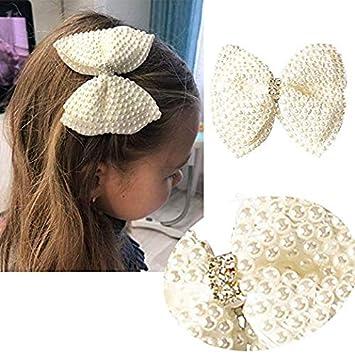 hair bows ribbon girl accessories head clips white
