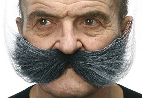 Fisherman's salt and pepper fake mustache, self (Fisherman Costumes For Adults)