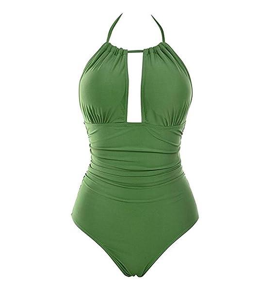 Traje de baño mujer, ❤ Amlaiworld Mujer sexy Trajes de baño de una pieza Bañadores sin espalda mujer Mono sexys Bikini de playa ropa de baño: Amazon.es: ...