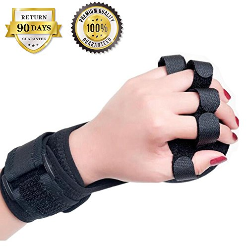 Finger Posture Corrector Anti-Spasticity Ball Splint, 2 in 1 Finger Device Training Equipment Finger Wrist Hand Orthosis with Ball Stroke Hemiplegia Rehabilitation Health Assist Grasp