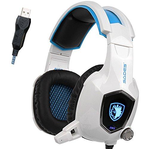 AW50 Headphones Vibration Noise Reduction White