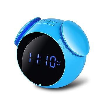 Inalámbrico Bluetooth Altavoz Cristal Reloj de Alarma ...