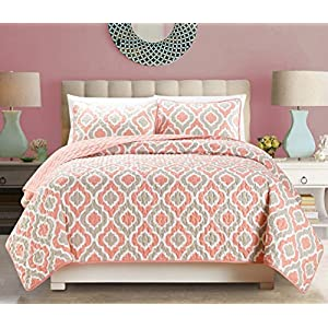 51UKhwj1pQL._SS300_ Coral Bedding Sets and Coral Comforters