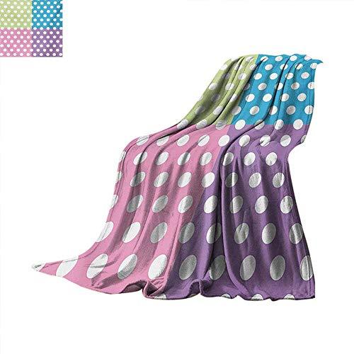 (Polka Dots Custom Design Cozy Flannel Blanket Polka Dots in Modern Patchwork Design Print Nursery Playroom Kids Sprinkles Print Artwork Image 60