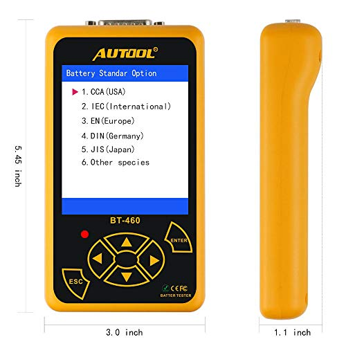 AUTOOL BT-460 Car Battery Tester for 12V Cars & 24V Trucks by AUTOOL (Image #2)