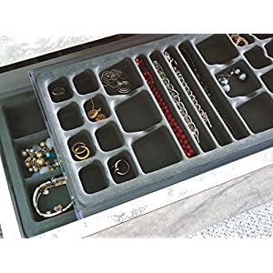 Multi-Purpose Valet Jewelry Organizer, with Velvet Tray, US Patented