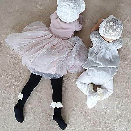 Leggings da Bambino Elasticizzati con Ali dAngelo in Cotone Nero 1-2 Anni Wimagic Cotone