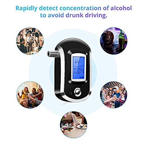 Fancartuk Alcohol Tester 20Pcs Mouthpieces and Sound Alarm Digital Battery Power Alcohol Detector with LCD Display Portable Breath Alcohol Tester Professional Breathalyzer