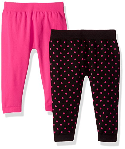 Limited Too Baby Girls' 2 Pack Fleece Legging Pant, Multi E13740MTL2-12, 12-24 (Baby Fleece Pant)