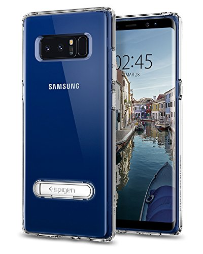 Spigen Ultra Hybrid S Galaxy Note 8 Case with Air Cushion Technology and Magnetic Metal Kickstand for Galaxy Note 8 (2017) - Crystal Clear