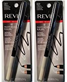 (Pack of 2) Revlon Photo Ready Kajal Intense Eye Liner & Brightener, Carbon Cleopatra, 0.08 oz