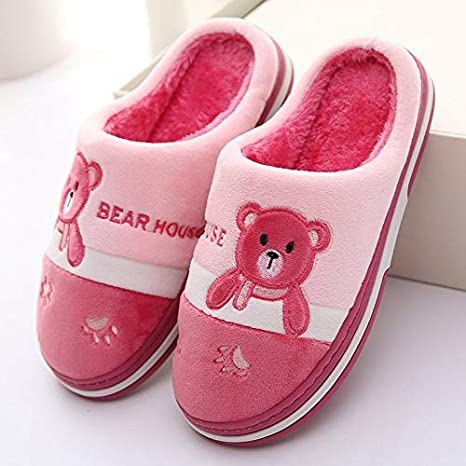48bfbf924030 Image Unavailable. Image not available for. Color  MAGA 1 Winter Plush  Slippers Women Man House Shoes Bear Slippers Mules ...