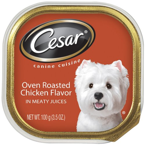 Cesar Canine Cuisine Oven Roasted Chicken for Small Dogs, 3.5-Ounce Cans (Pack of 24), My Pet Supplies