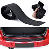 Rear Bumper Protector, Back Bumper Protector Guard Universal Black Rubber Durable Protect and Hide Scratches, Bumper Guards for Cars/SUV, Easy D.I.Y. InstallationProtector (Black)