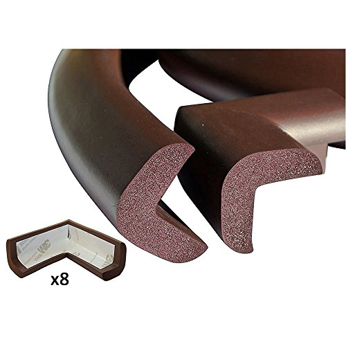 G-Tree Baby Proofing Edge & Corner Guards Set,6.5 ft Cover Edge 16Corners Guard Edge Furniture Protectors Corner Cushion Protection (Brown) by G-Tree (Image #1)
