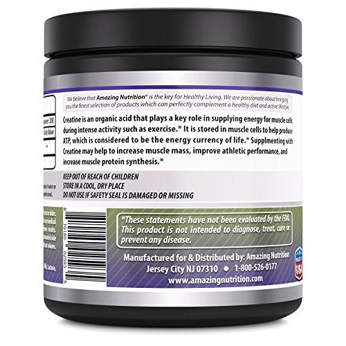 Amazing Nutrition Amazing Formulas Creatine Powder 1 KG (2.2 Lb) 200 Servings - Promotes Athletic Performance