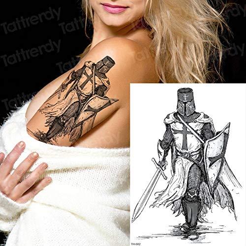 Handaxian 3pcsSamurai Tattoo Black Sketch Tattoo Design Hombre ...