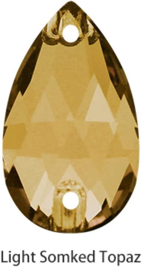 PENVEAT Sparkly Tear Drop Fancy Coser en Diamantes de imitación Cristal de Strass Cristal Rhinestones Botón Plano Coser en Prendas de artesanía, Topacio Ahumado Ligero, 7x12mm 10 Piezas