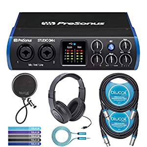 PreSonus Studio 24c USB-C Audio Interface Bun...