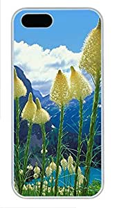 iPhone 5 5S Case Nature Flowers 3 PC Custom iPhone 5 5S Case Cover White